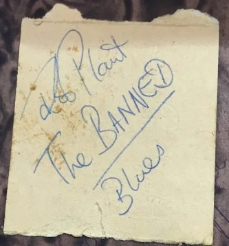 robert plant autograph the banned