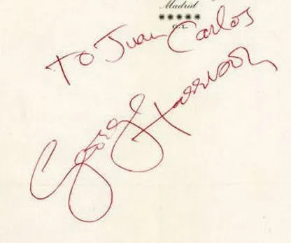 George Harrison Autographs 1977