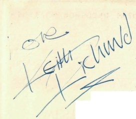 The Rolling Stones autograph cheque keith richards