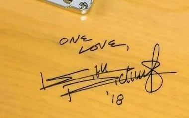 keith richards autographs 2018