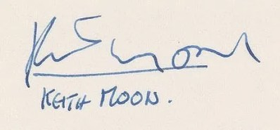 Keith Moon autographs