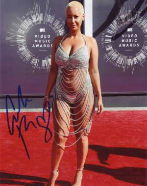 Amber Rose in-person autographed photo