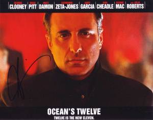 Andy Garcia in-person autographed photo