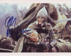Lord of the Rings in-person autographed cast photo
