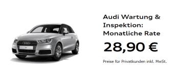 Autohaus Halstenberg - Preisbeispiel Wartung und Inspektion Audi A1