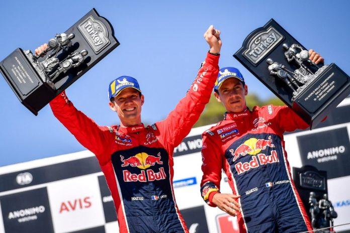 C3 WRC Pondium