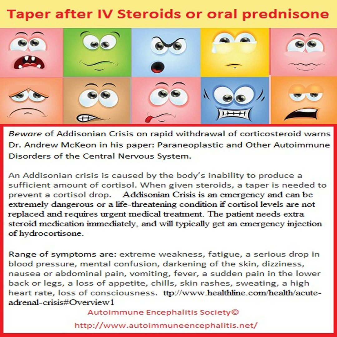 IV Steroid Taper