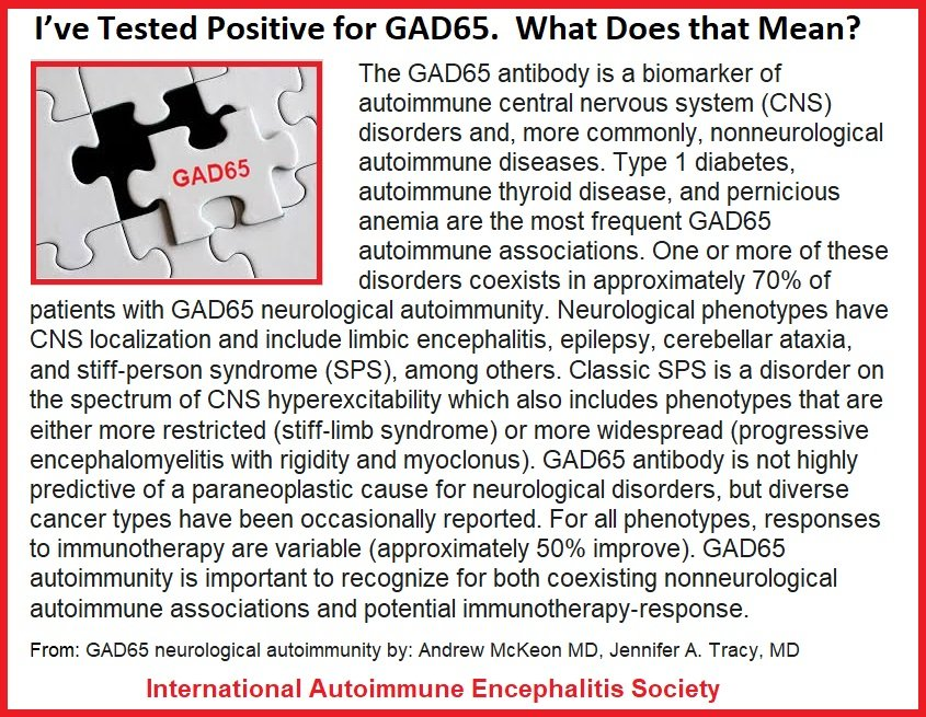 GAD65 tested positive what does that mean - Memes About Autoimmune-Encephalitis