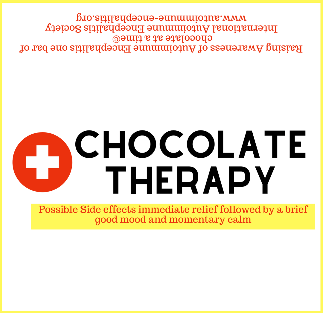 Chocolate Therapy Candy Wrapper 5 9 16  x 5 3 8  - AE Awareness Month 2021