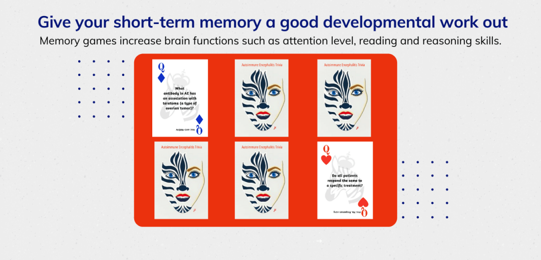Website Introducing Autoimmune Encephalitis Trivia Playing cards mobile presentation7 - AE Playing Cards