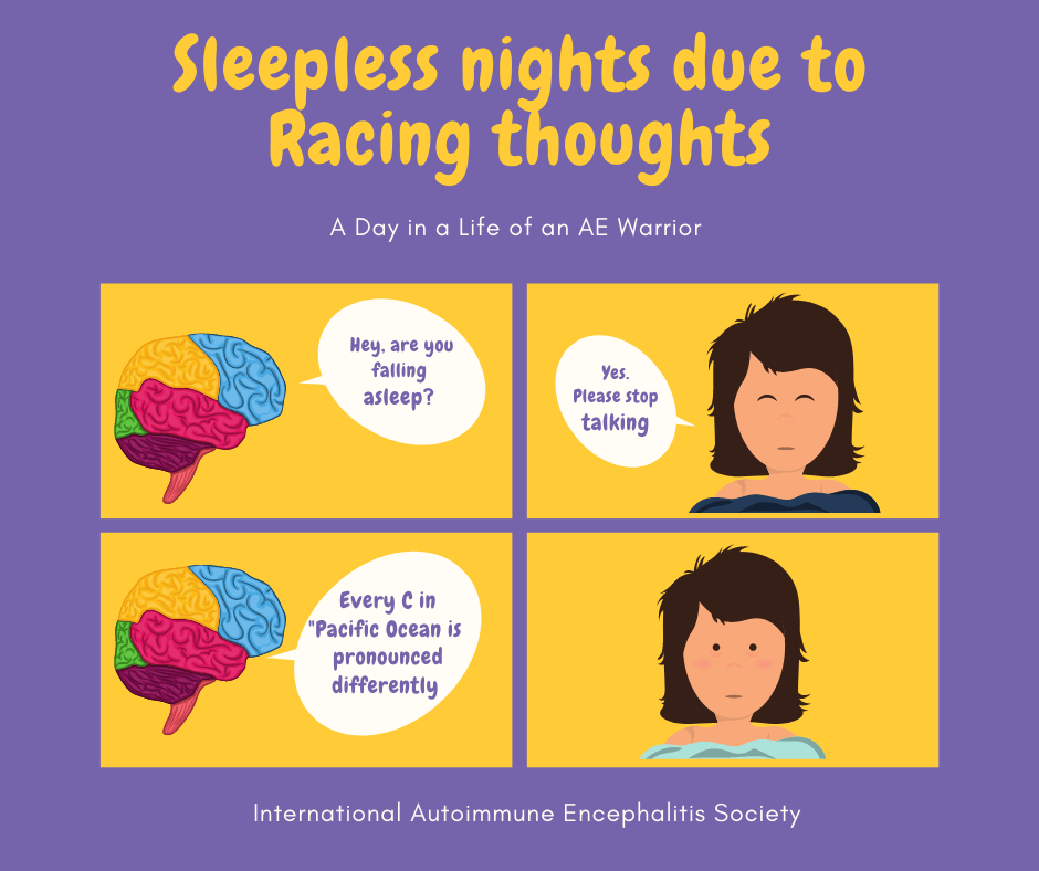 Racing thoughts can not sleep Comic Strip FB 9 6 20 - Memes About Autoimmune-Encephalitis