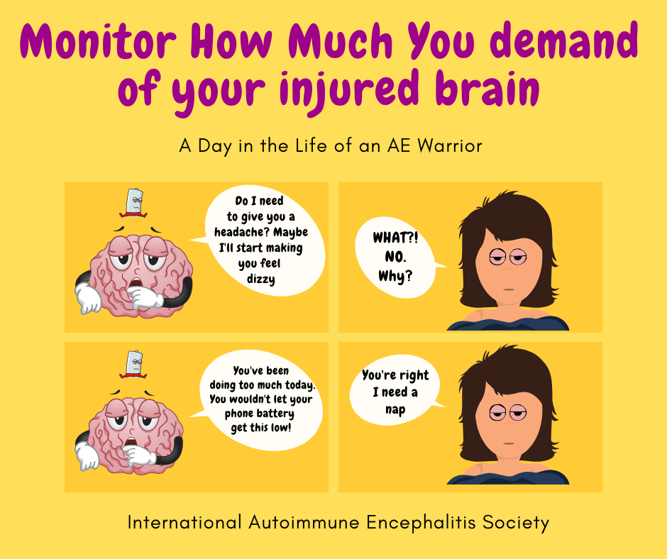 Monitor how much you demand of your injured brain Comic Strip 10 11 20 FB - Memes About Autoimmune-Encephalitis