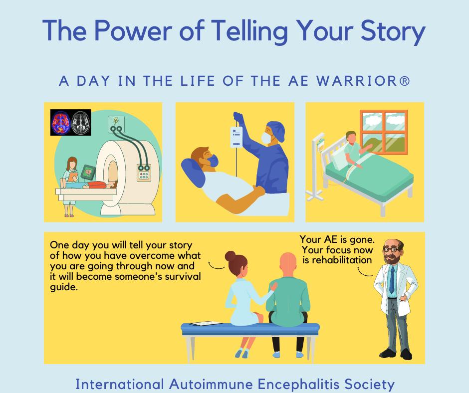 The power of telling your story 8 1 2021 FB - Memes About Autoimmune-Encephalitis