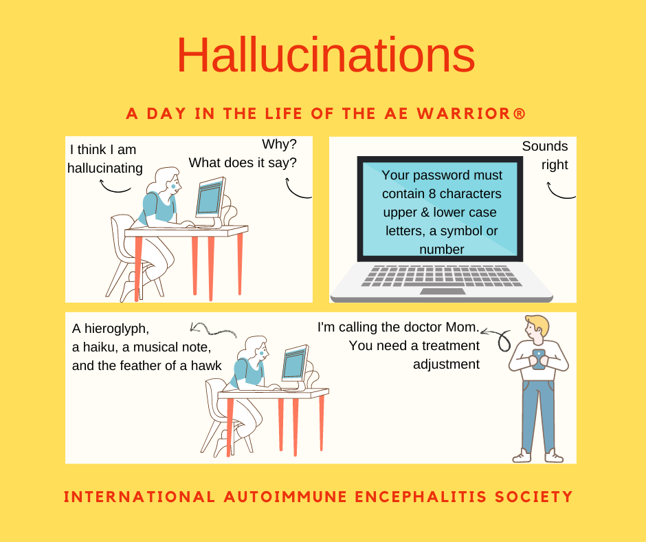 Hallucinations day in life of AE Warrior 9 19 2021 FB - Memes About Autoimmune-Encephalitis