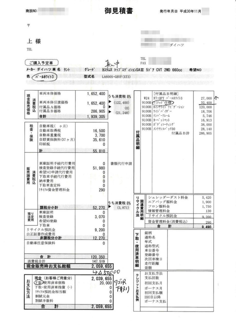 """タントカスタムX""""リミテッドⅡ SA Ⅲ"""""""