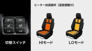 快適温熱シート(運転席・助手席)