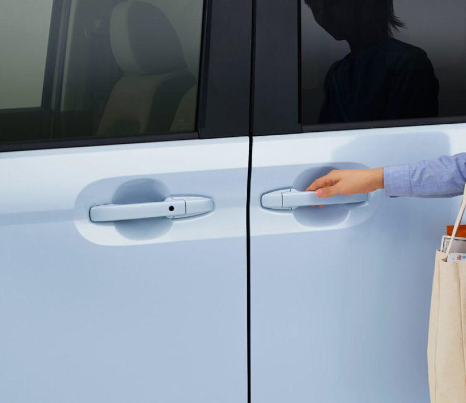 パワースライドドア(イージーオープンドアハンドル、タッチセンサー,挟み込み防止機構付、リモコン&運転席スイッチ開閉式)