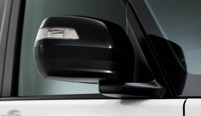 電動格納式リモコンカラードドアミラー(ブラック塗装)