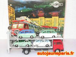 Fiat 682 porte autos et ses 4 Fiat 600 Multipla