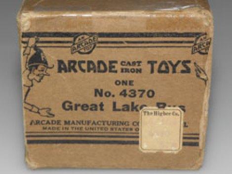 Arcade Toys, la boîte et l'étiquette
