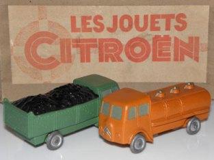 Jouets Citroën TUB charbonnier et citerne
