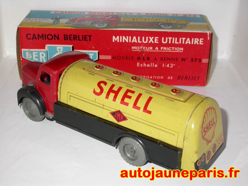 REPLIQUE BOITE CAMION BERLIET GLR BENNE DINKY TOYS 1959