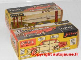 rare boîte carton pour la Tekno Opel Rekord 58