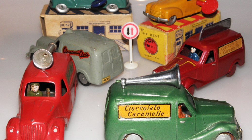 ensemble de camionnette italienne des années 50