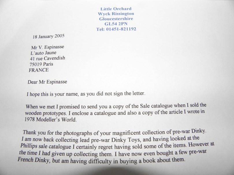 lettre de Julien Loffet