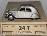 Dinky Toys citroën 2cv premier modèle argent