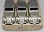Dinky Toys citroën 2cv 1 feux gris métallisé nuances