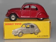 Dinky Toys Citroën 2cv jantes concave en acier chromé