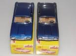 Nuances de bleu métallisé sur Solido Ford Thunderbird avec phares en strass