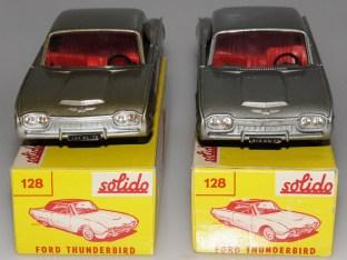 Nuances de couleur sur Solido Ford Thunderbird avec phares en strass