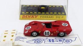 Dinky Toys Ferrari 312P avec planche de décoration et notice