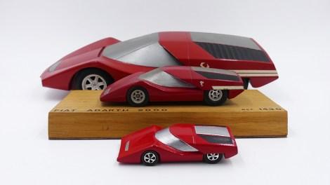 Prototypes Dinky-Toys Abarth 2000 au 1/20, 1/43 et au 1/75 !