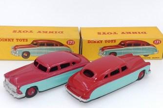 nuance de couleur sur l'Hudson Commodore de chez Dinky Toys