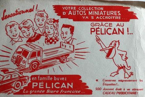 "Buvard avec le Renault ATD brasseur ""Pelican"""