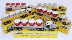 """Solido Unic Sahara tracteurs semi remorque avec cuves """"ciment transport en vrac"""" avec jantes en acier"""