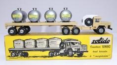 """Solido Unic Sahara tracteurs semi remorque avec cuves """"Eau potable"""" avec jantes en plastique et en acier !"""