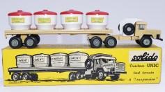 """Solido Unic Sahara tracteurs semi remorque avec cuves """"Eau potable"""" avec jantes en plastique"""