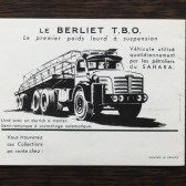 Solido Berliet TBO saharien (catalogue France)