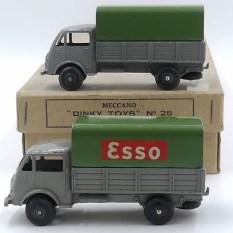 Dinky-Toys Ford ridelles bâché Esso et version sans publicité