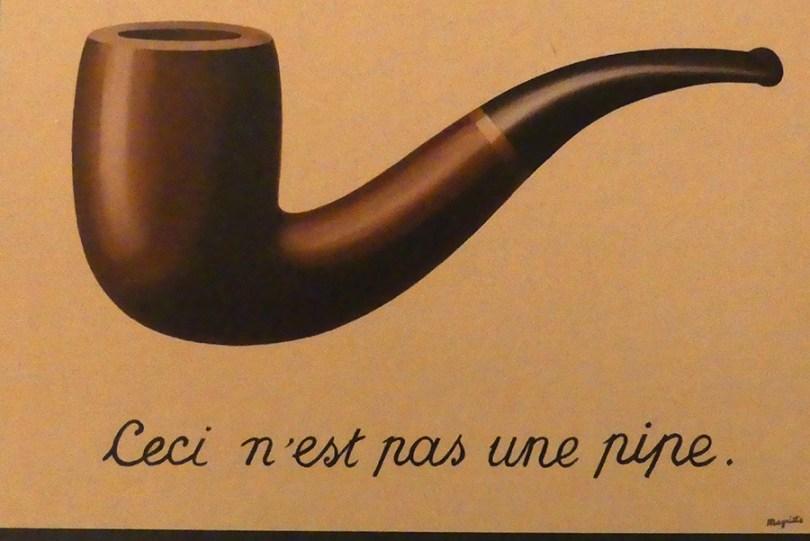 """Réné Magritte """"Ceci n'est pas une pipe"""""""