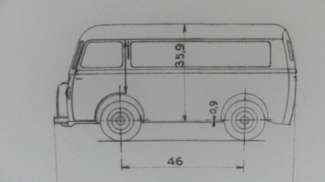 Dinky Toys plan du Peugeot D3A