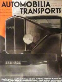 couverture du magasine Automobilia transports