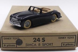 Dinky Toys Simca 8 sport (pare brise fin) l avec intérieur chamois