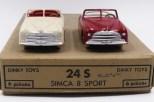 Dinky Toys Simca 8 sport (pare brise épais) couleurs inversées