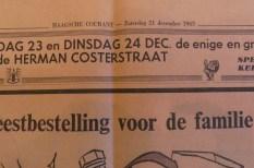 Haagshe Courant journal du 21 Decembre 1963 avec le Volkswagen van de chez Tekno