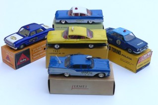 Buby ensemble de véhicules de police et taxi